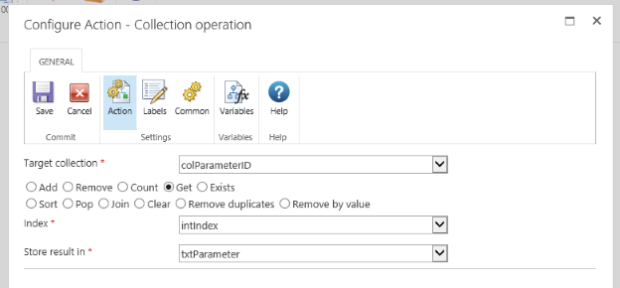 Nintex Workflow Collection Operation - Extract Parameter from URL